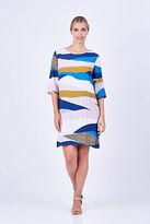 ELM NEW Womens Knee Length Dresses Organic Print Dress Multi