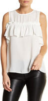 Blvd Sleeveless Ruffle Blouse