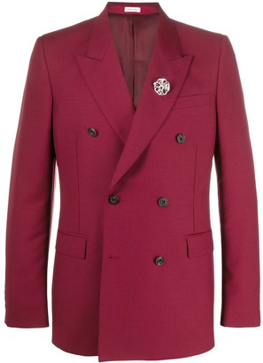 Alexander McQueen Brooch-Embellished Blazer