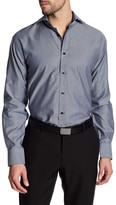 Thomas Dean Diamond Print Long Sleeve Shirt