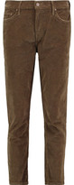 Mother The Dropout Cropped Cotton-Blend Corduroy Skinny Pants
