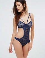 Wolfwhistle Wolf & Whistle Navy Open Cup Bodysuit