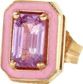 Alison Lou Pink Sapphire And Enamel Stud