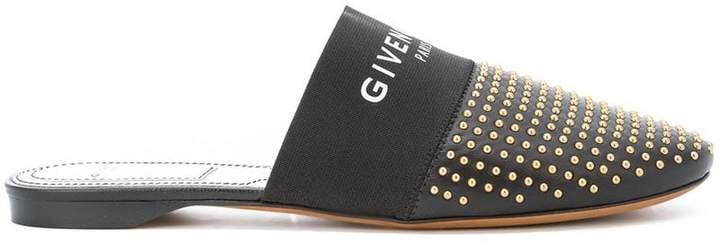 Givenchy logo studded mules