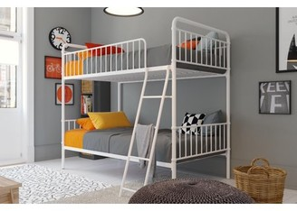 Better Homes & Gardens Better Homes and Gardens Kelsey Twin over Twin Metal Bunk Bed, Multiple Colors, (White)