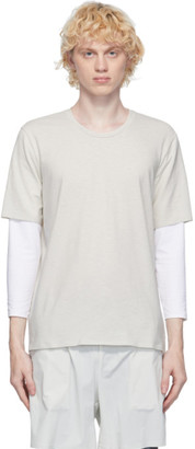 JACQUES Off-White Compression Long Sleeve T-Shirt