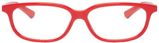 Balenciaga Red Rectangular Cat-Eye Glasses