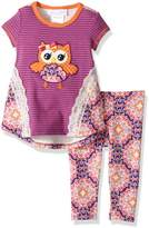 Bonnie Baby Girls Fall Damask Legging Set (0m-24m)