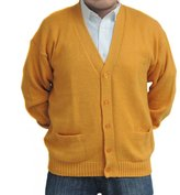 CELITAS DESIGN CARDIGAN Alpaca and blend Vneck buttons and pockets mens made in Peru XXXL