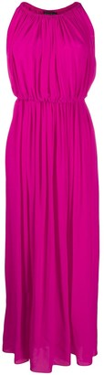 Gianluca Capannolo Pleated Silk Maxi Dress