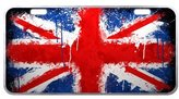 JIJIDA United Kingdom Flag - UK Great Britain Union Jack Novelty Metal Vanity License Tag Plate