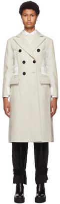 Sacai Off-White Wool and Nylon Coat