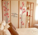 IDEA Custom Color PopDecals - Four Oriental big bamboo - 71 in tall - nursery wall decals tree vinyl wall art wall decor sticker wall vinyl stickers pop baby gift