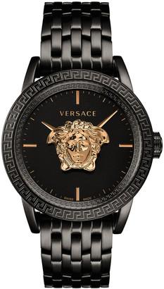 Versace Men's 43mm Palazzo Empire Watch, Black/Gold