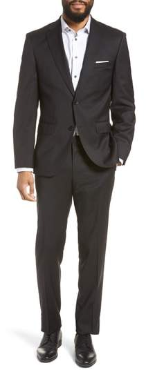 BOSS Johnstons/Lenon Classic Fit Solid Wool Suit