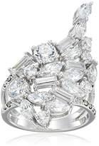 Judith Jack Sterling /Swarovski Marcasite Cubic Zirconia Cluster Ring