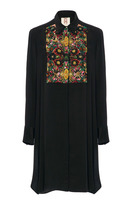 Figue Emmanuel Embroidered Tuxedo Silk Tunic