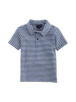 Oscar de la Renta Boys Striped Cotton Polo