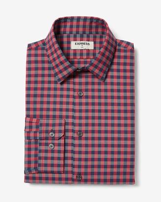 Express Slim Gingham Dress Shirt