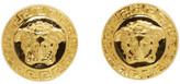 Versace Gold Medusa Stud Earrings