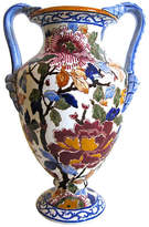 One Kings Lane Vintage French Faience Double-Handled Vase