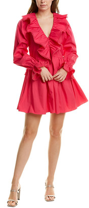 Self-Portrait Ruffled Mini Dress