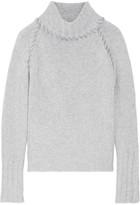 The Elder Statesman Cashmere Turtleneck Sweater - Light gray