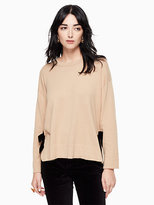 Kate Spade Velvet tie swing sweater