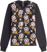 Markus Lupfer Embroidered Cotton Top with Embellishment