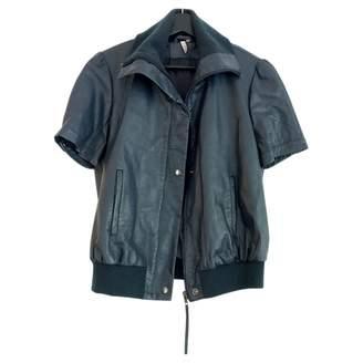 IRO Blue Leather Leather jackets