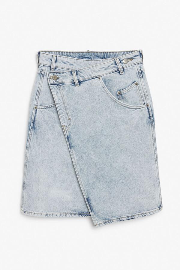 Thumbnail for your product : Monki Asymmetric denim skirt