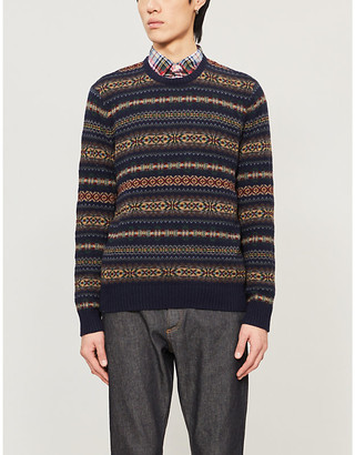 Polo Ralph Lauren Fairisle-patterned cotton-blend jumper