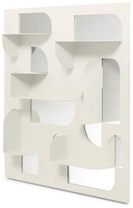 "Umbra Bend Mirror & Shelf, 24"" x 24"""