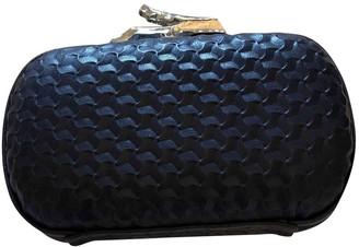 Diane von Furstenberg Blue Leather Clutch bags