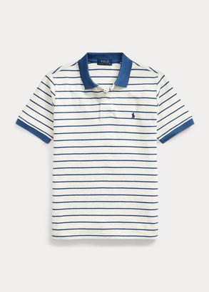 Ralph Lauren Striped Cotton Mesh Polo Shirt