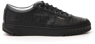 Salvatore Ferragamo Gancini Embossed Sneakers