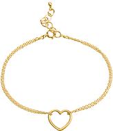 Dogeared Friendship Medium Heart Chain Bracelet, Gold