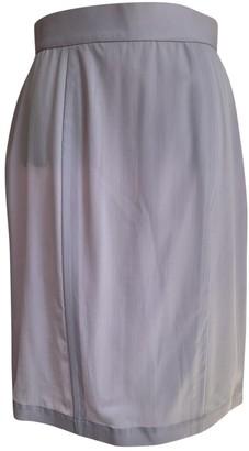 Thierry Mugler Purple Wool Skirts