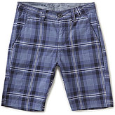 Nautica Big Boys 8-16 Plaid Flat-Front Shorts