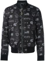 Philipp Plein 'Heathrow' bomber jacket - men - Nylon/Polyester - L