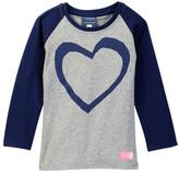 Toobydoo Misaki Long Sleeve Heart Raglan Tee (Toddler, Little Girls, & Big Girls)