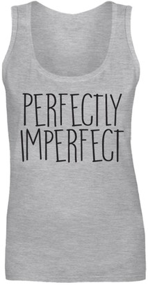 Flip Womens Perfectly Imperfect Slogan Cute Funny Vest Tank Top Heather Grey UK 12 (M)