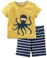 LZH Baby Boys Summer Clothes T-shirt+Pants Kids Clothes Sport Suit