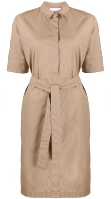 Fabiana Filippi belted shirt midi dress