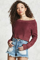 Forever 21 FOREVER 21+ Cropped Rib Knit Sweater