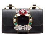 Miu Miu Women's Black Leather Shoulder Bag.