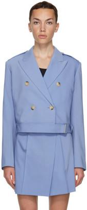 Helmut Lang Blue Belted Blazer