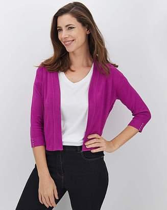 Jdw Purple Button Sleeve Shrug