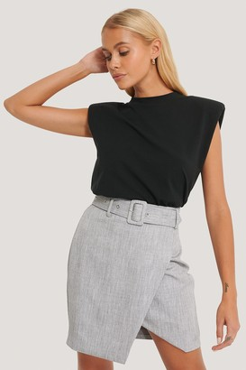 NA-KD Belted Overlap Mini Skirt