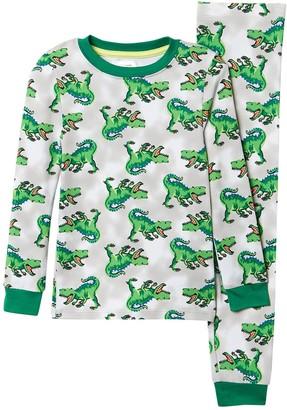 Dream Life Dino Print 2-Piece Pajama Set